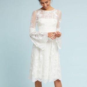 BHLDN X ML Monique Lhuillier Mixed Lace Dress